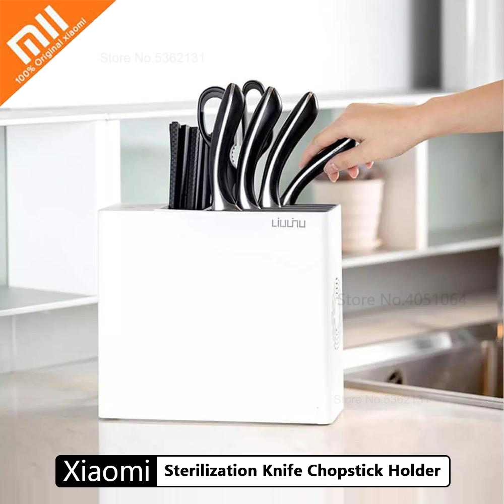 Xiaomi Sterilization Knife Chopstick Holder UV Sterilization Drying Storage Kitchen Block Tools Knives Stander Cleaning For Home