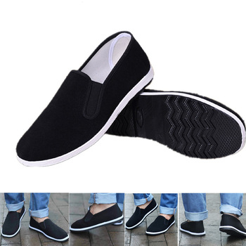 цена New Chinese Kungfu Shoes Black Chinese Traditional Kung Fu Shoes Tai Chi Wushu Shoes Old Peking Shoes Martial Art Sneakers 35~44 онлайн в 2017 году