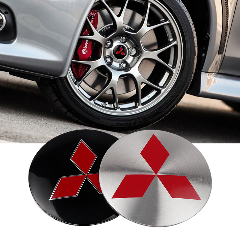 4Pcs 56mm Car Tire Cover Decal Wheel Center Hub Cap Sticker For Mitsubishi Lancer Asx Outlander Pajero L200 Galant Car Styling