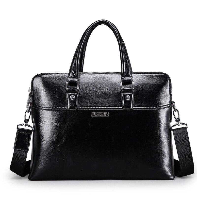 New Luxury Cow Real Genuine Leather Business Men's Briefcase Male Fashion Shoulder Bag Men's Messenger Bag Tote Computer Handbag