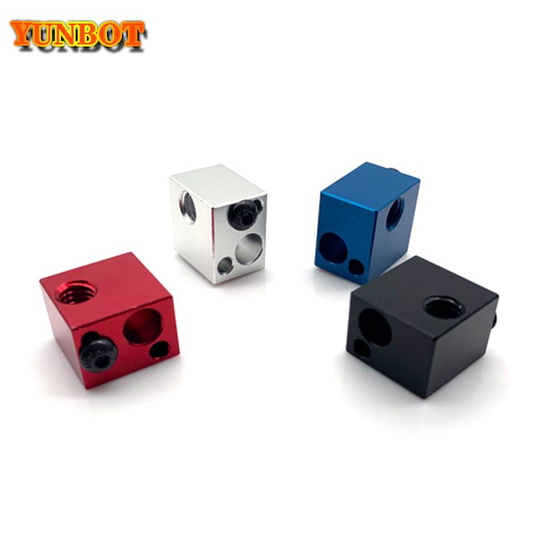 1PC Makerbot Heated Block 3D Printer Aluminum Heater Block MK7 MK8 Extruder V6 J-head Hot End Heating Block 16*16*12mm