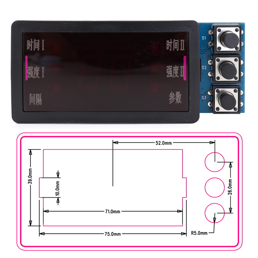 Image 4 - Spot Welding Machine Control Panel Double Pulse Convenient Easy Installation Stable With Motherboard Plastics Base Spot WeldingSpot Welders   - AliExpress