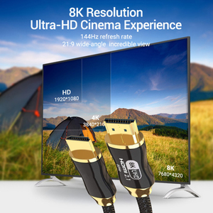 Image 5 - 8K HDMI compatible Cable @60Hz 4K@120Hz Ultra High Speed 48Gbps for Apple TV PS4 8K TV Digital Cables HDR10+ HDMI compatible 2.1