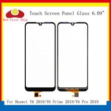10 יח\חבילה מגע מסך עבור Huawei Y6 ראש 2019 לוח מגע חיישן Digitizer חזית זכוכית חיצונית מסך מגע לא LCD Y6 פרו 2019