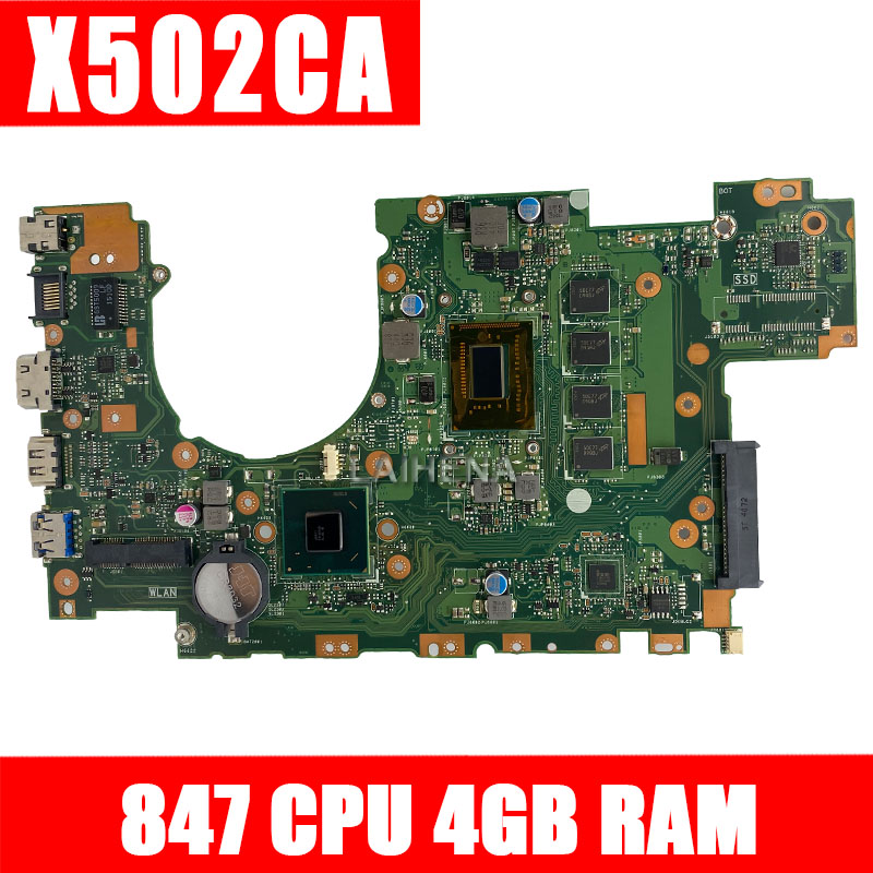 LAIHENA For ASUS X502CA Laptop Motherboard X402CA REV2.1 With 847CPU 4GB Mainboard Fully Tested