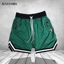 Elastic waist men Shorts fashion Zipper Pocket casual