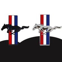 1 пара, 3D Автомобильная наклейка с эмблемой для Ford Mustang, логотип, Стайлинг автомобиля, бесплатная доставка