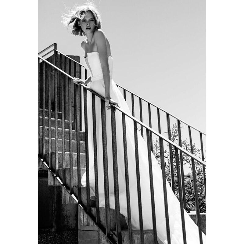 Verngo Beach Wedding Dress Boho Elegant Strapless Wedding Gowns Simple Bride Dress Robe De Soiree Vestido De Novia