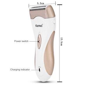 Женский эпилятор Kemei, аккумуляторная машинка для удаления волос для лица, рук, ног, подмышек, триммер для тела, для депиляции, электробритва, бритва F30