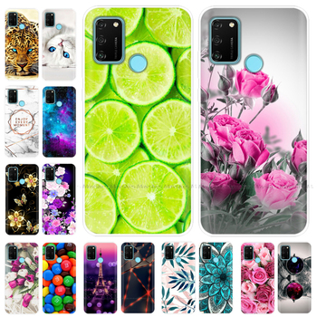 Case for HONOR 9A Case 6.3 Soft Tpu Phone Silicon Back Cover for Huawei Honor 9A 9 A MOA-LX9N Protective Coque Funda Shell Para marble flower letter phone case for huawei honor 9 lite soft tpu back cover for huawei honor 9 silicone cases coque shell