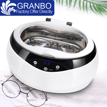 Granbo glasses ultrasonic cleaner 600ML 35W LED display touch screen Digital Ultrasound bath himoskwa 600ml mini ultrasonic cleaner intelligent digital control ultrasonic cleaner bath for jewelry glasses cleaning 30w 50w