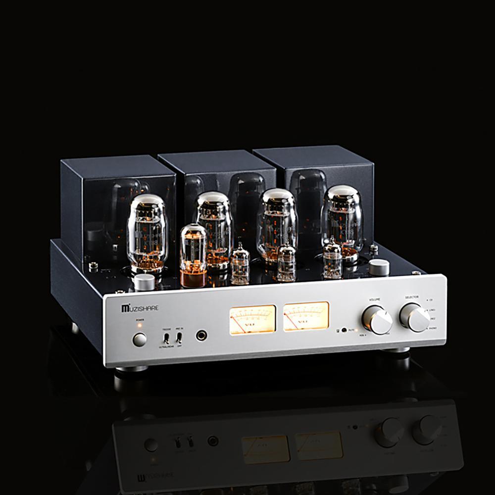 2019 MUZISHARE X7 amplificateur de Tube push-pull KT88 Double redresseur de Bile haute pression amplificateur numérique 260W préamplificateur Phono