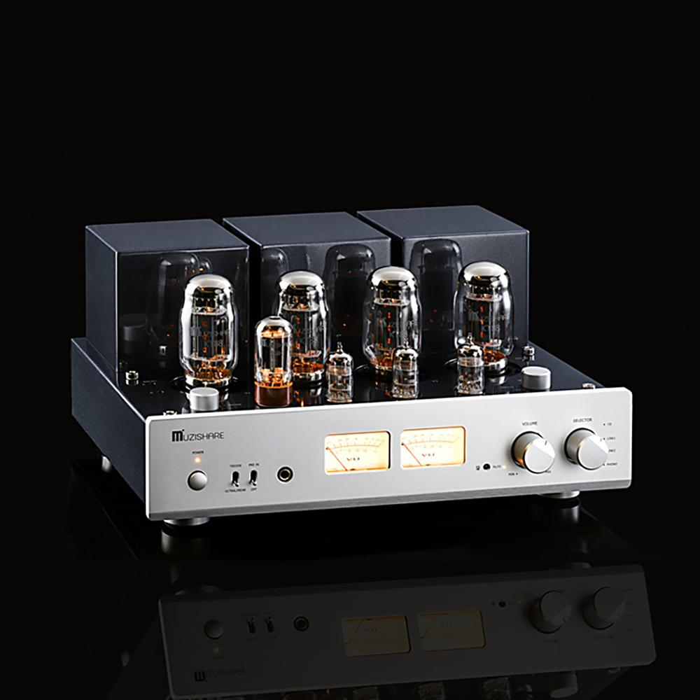 MUZISHARE X7 Push-Pull Tube Amplifier KT88 Double High Pressure Bile Rectifier Digital Amplifier 260W Phono Preamplifier