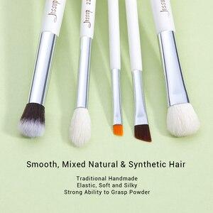 Image 2 - Jessup Make Up Pinsel Weiß/Silber 20 stücke pinceaux maquillage Professionelle Lidschatten Foundation Pulver Make Up Pinsel Kit T245