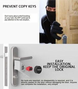 Image 5 - S2 חכם שרלוק מנעול Bluetooth טלפון APP שלט דלת אלקטרוני נגד גניבת נעילה למשרד בית שינה אבטחה