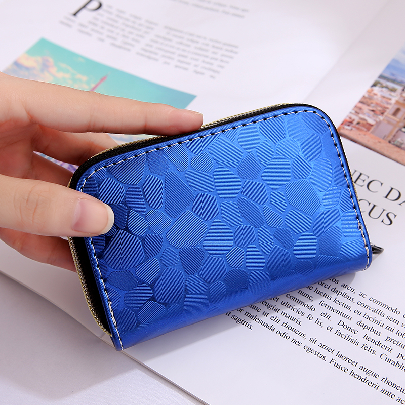 2019 Fashion Women 9 Slots Business Cards Case Bag High Quality Credit ID Card Holder Bank Zipper Clutch Women Wallet Coin Purse image