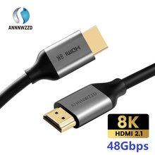 Cavo 2.1 compatibile HDMI 8K/60Hz 4K/120Hz UHD HDR 48Gbps per Xiaomi Mi Box PS5 48Gbps HDR10 cavo compatibile HDMI 8K
