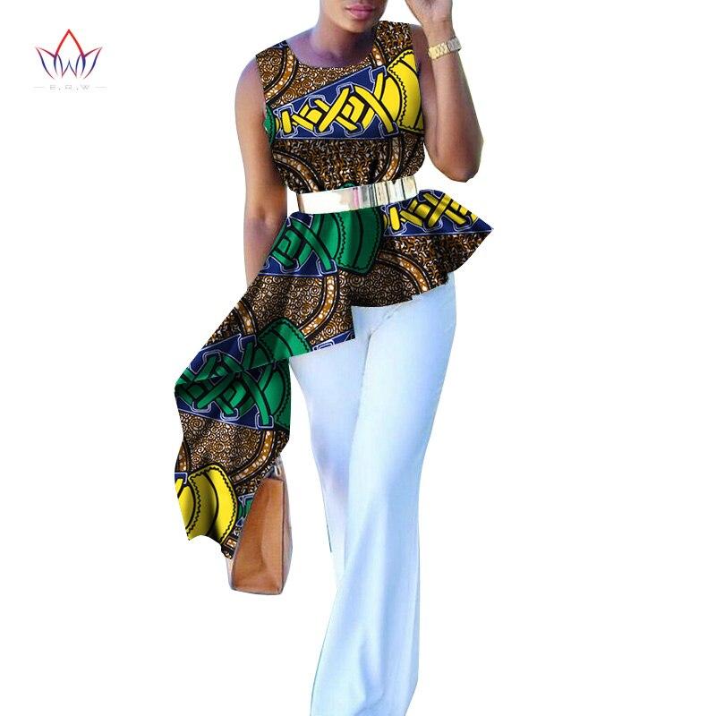 BintaRealWax African Printed Fashion Shirt Female Summer Casual Tops Ankara Batik Women Clothing WY2220