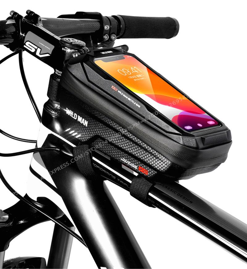 Сумка на велосипед wild man водонепроницаемая сумка для телефона