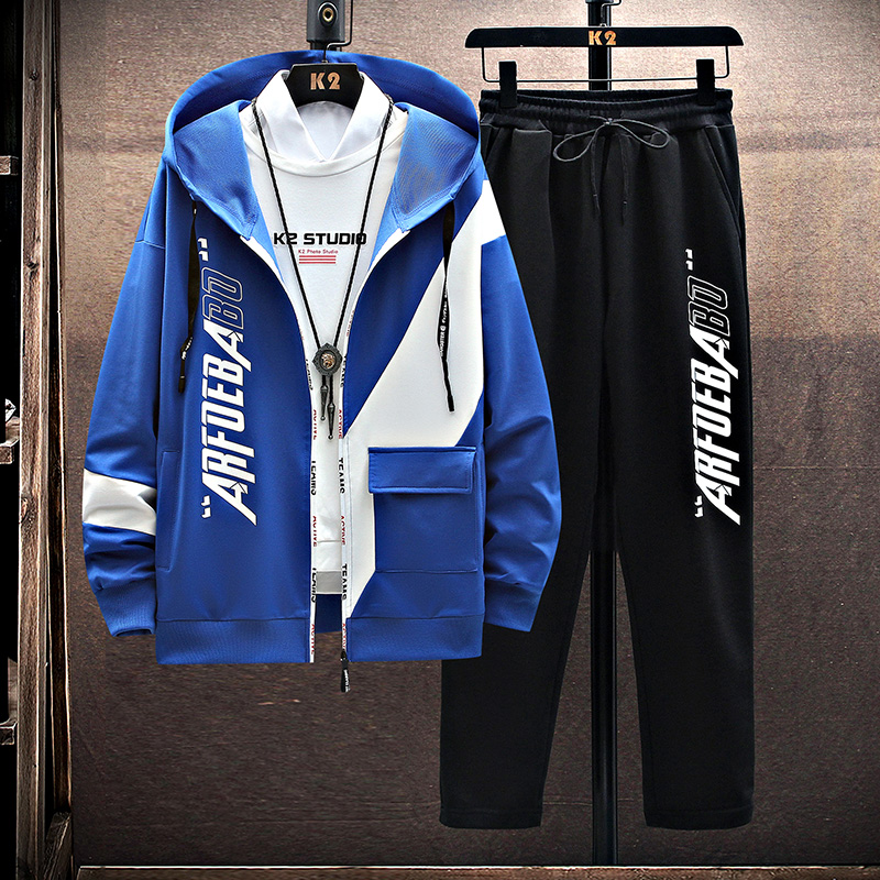 2021 Casual Tracksuit Men Sets Brand Sportswear Streetwear Hoodies and Pants Two Piece Sets Autumn and Winter