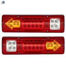 2x 46 LED Truck Tail Light Bar for Truck Boat Trailer Pickup RV Camper UTV UTE Vans Turn Signal Brake Reverse Running Taillight