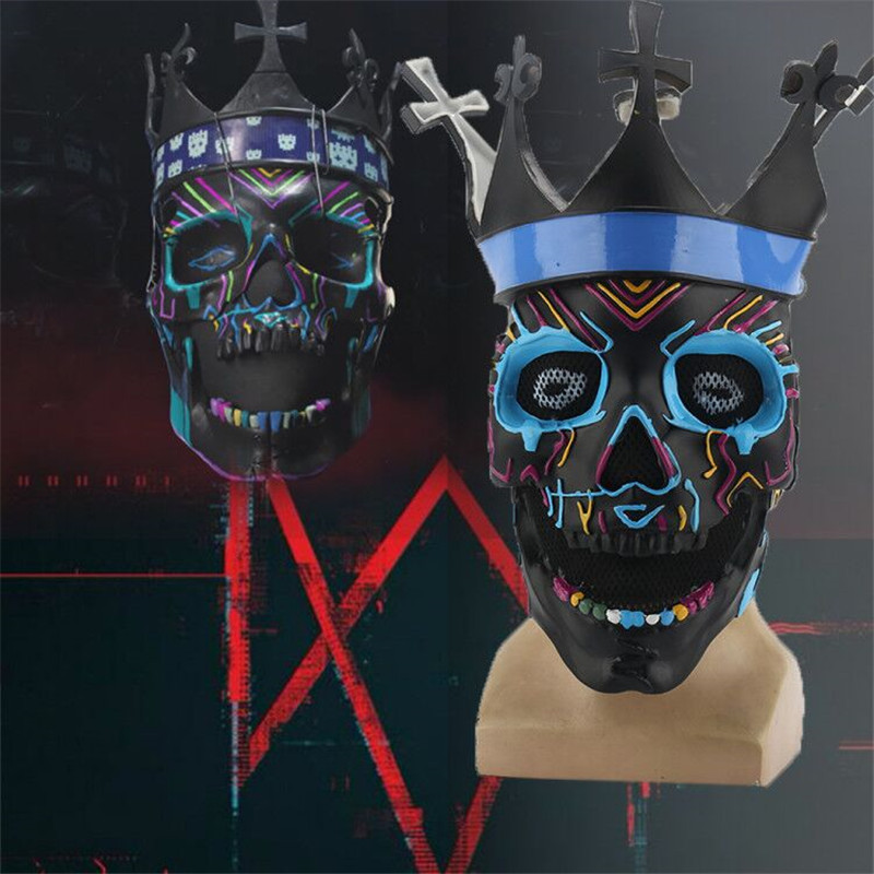 Watch Dogs Legion Ded Coronet Cosplay Mask Skull Mask Horror Black Classic Edition Skeleton Helmet Masks Halloween Party Props Boys Costume Accessories Aliexpress