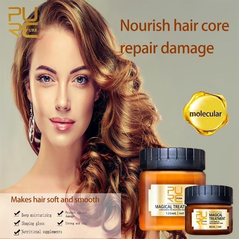 60 мл/120 мл маска для волос с магическим лечением, питательная маска, 5 секунд, восстанавливает повреждения волос, восстанавливает мягкие воло...