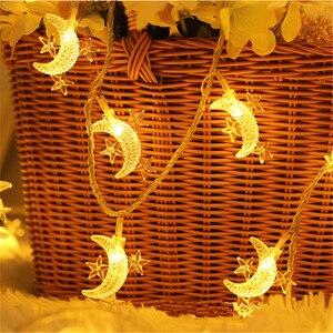 Image 4 - Wedding Decoration EID Mubarak Star Moon Led Lights Strip Decor EID Party Supplies Ramadan Muslim Islam Decor Party Favors,Q