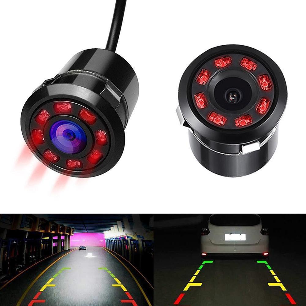 8 LED 170 Degree Round Back Up Cameras Car Rear View Camera Night Vision Reversing Auto Parking Waterproof Monitor Camera