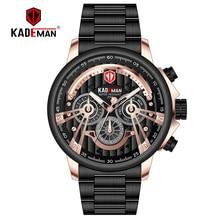 2019New Sport Watch Men Full Steel Waterproof Military TOP Brand KADEMAN Business Man Leisure Date Clock Relogio Masculino