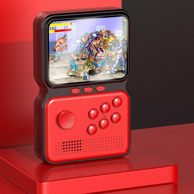 Геймерские Ретро Портативный мини портативные игровые консоли 16-бит 3,0 дюймов Цвет ЖК-дисплей детская Цвет игровой плеер встроенный 990 + игр...