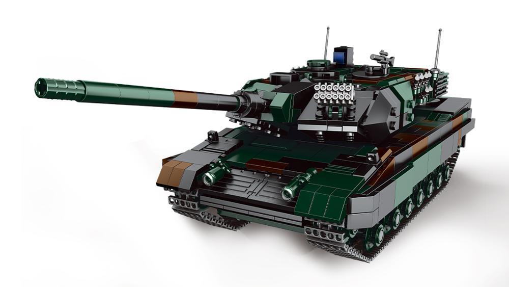 Конструктор XingBao MOC в стиле милитари, набор строительных блоков для сборки моделей танка пантета, армии, Вторая мировая война, детские игрушк...