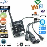 720P 960P 1080P 3MP 5MP kryty 940nm IR Leds Wifi bezprzewodowa kamera ip karta Sd wideo survialance P2P Onvif HD Mini kamera ip IR CUT w Kamery nadzoru od Bezpieczeństwo i ochrona na