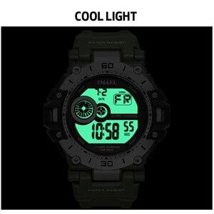 Image 5 - SMAELนาฬิกาแฟชั่นผู้ชายกีฬานาฬิกากันน้ำ5Bar ChronographนาฬิกาAnalogนาฬิกาปลุกนาฬิกาข้อมือReloj Hombre 1548