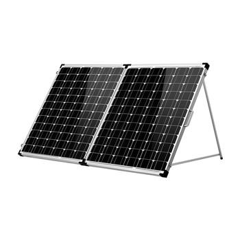 Dokio 200W(2 sztuk x 100W) składany Panel słoneczny chiny + 10A 12V 24V kontroler składany panel słoneczny komórka System ładowarka Panel słoneczny tanie i dobre opinie Monokryształów krzemu 885mm*660mm*50mm FSP-200W 22 50V 18 00V 11 36A 11 11A World-class quality Top grade raw materials