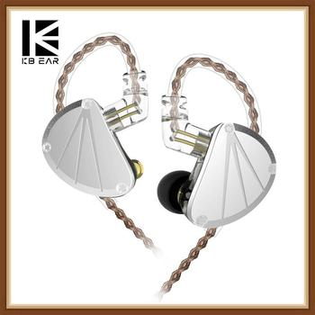 KBEAR KB10 5BA 5 Balanced Armature Metal Hifi Music Monitor DJ Studio In Ear Earphones Running Sport Headset Earbuds 2Pin 0.75mm