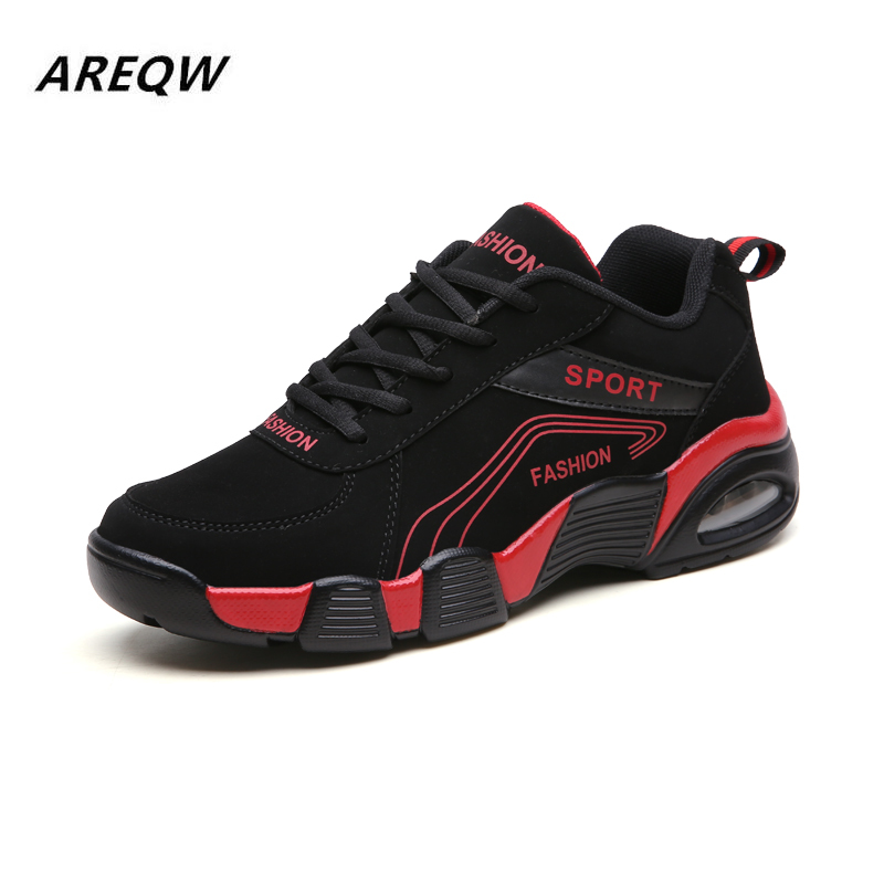 2019 Youth Sports Shoes Men's Casual Shoes Students Trend Wild And Comfortable Solid Color PU Upper Basic Men's Shoes