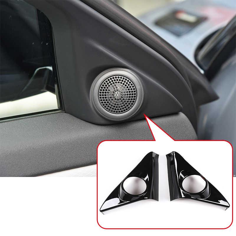 2019 2020 Accessories DIYUCAR 4 x ABS Chrome Car Front Lamp Decoration Strip Trim For Rangerover Evoque L551 Glossy black