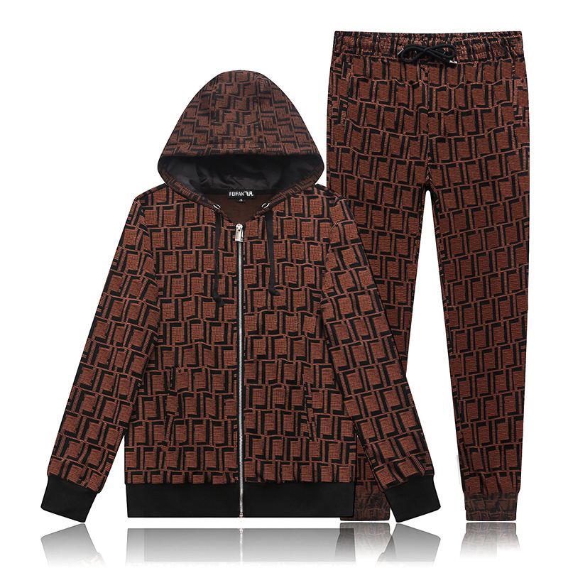 Men's suit Star bags Feifan Skull diamond cotton spring 2020 fashion casual sportswear long T-shirt long pants sweater set