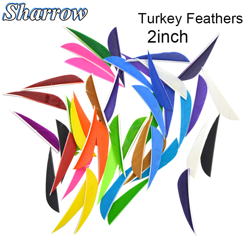 50pcs Hunting Arrows Feathers 3inch Turkey Crossbow Drop Shape Compound Recurve Bow Shooting Achery ACC