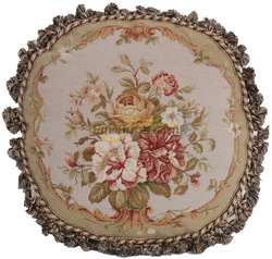 round cushion cover Pillows Various Flower Decorative Needlepoint woolen Needlepoint Floral Roses Rectangular Cushion