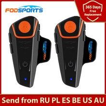 Fodsports BT-S2 Pro motorrad helm intercom motorrad drahtlose bluetooth Headset wasserdichte BT Sprech mit FM