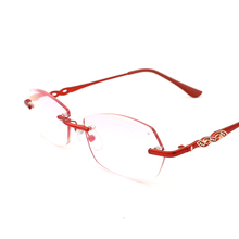 Rimless Reading Glasses Women with Clear Frame Fashion 2021 +1 1.5 2 2.5 3