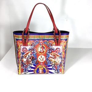 Image 1 - حقيبة يد نسائية عصرية مصممة على شكل جرافيتي من الجلد حقيبة صغيرة فاخرة مفتوحة حقيبة سهرة للسيدات بسعة كبيرة 2019