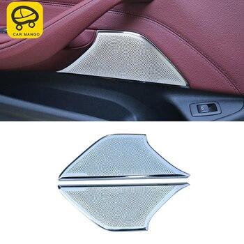 CARMANGO for BMW G30 5 Series 2018 2017 Auto Car Door Loudspeaker Sound Frame Trim Sticker Cover Interior Accessories