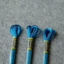 Cross-Stitch Metallic Embroidery Floss Thread Skein Platimum-Color 6-Strands Art 3pcs-Pack