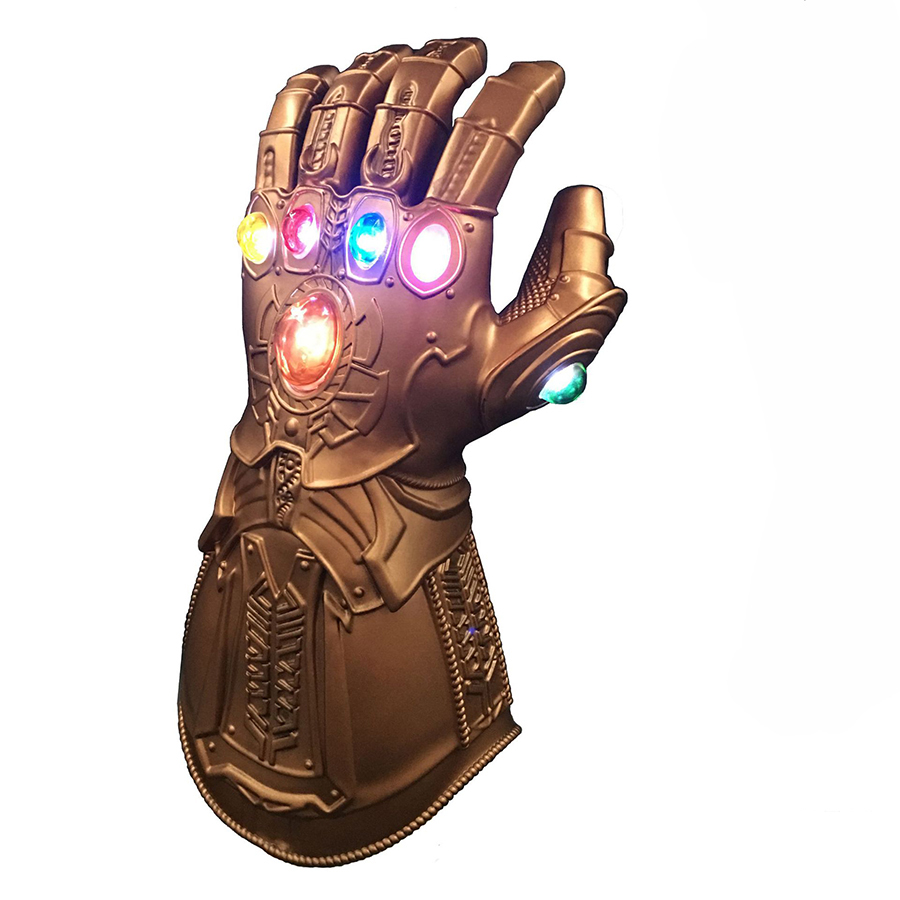 2020 The 4 Endgame Thanos Led Infinity Gauntlet Cosplay Costumes Infinity Stones War Led Gauntlet Glove Kids&Adult Size