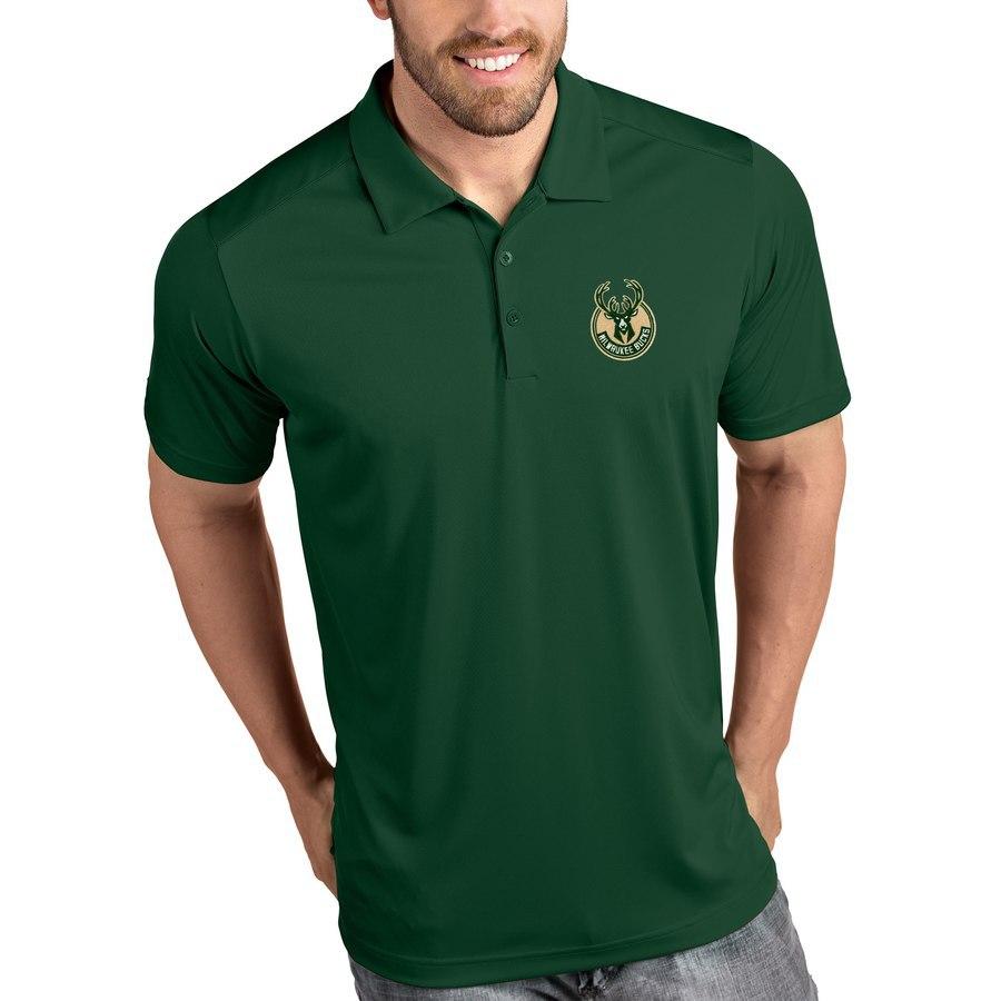 NBA Bucks Polo Shirt Summer Ouma Fold-down Collar Short Sleeve T-shirt Men's Support America Four Union Cool Logo