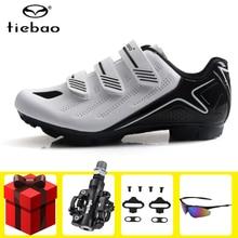 цена Tiebao Cycling Shoes Professional sapatilha ciclismo mtb Men Sneakers Bicycle Self-Locking  Mountain Bike Breathable Riding онлайн в 2017 году