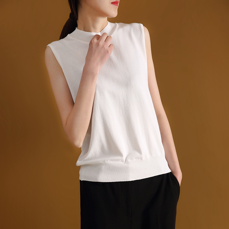 Summer New Short-sleeved Ladies Pullover Half-Neck Slim Knitted Sweater Spring